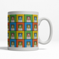 Australian Shepherd Dog Cartoon Pop-Art Mug - Right View