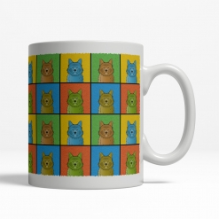 Australian Terrier Dog Cartoon Pop-Art Mug - Right View