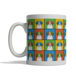Brittany Dog Cartoon Pop-Art Mug - Left View
