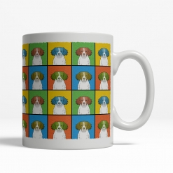 Brittany Dog Cartoon Pop-Art Mug - Right View