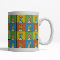 Carolina Dog Dog Cartoon Pop-Art Mug - Right View