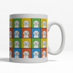 Cavachon Dog Cartoon Pop-Art Mug - Right View