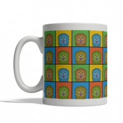 Chow Chow Dog Cartoon Pop-Art Mug - Left View