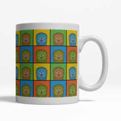 Chow Chow Dog Cartoon Pop-Art Mug - Right View