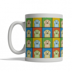 American Cocker Spaniel Dog Cartoon Pop-Art Mug - Left View