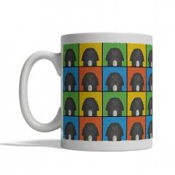 Field Spaniel Dog Cartoon Pop-Art Mug - Left View