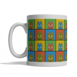 Finnish Spitz Dog Cartoon Pop-Art Mug - Left View