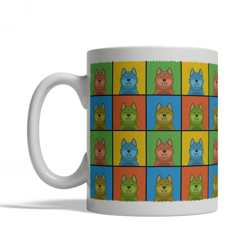 Finnish Spitz Dog Cartoon Pop-Art Mug - Left View