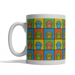 Irish Setter Dog Cartoon Pop-Art Mug - Left View