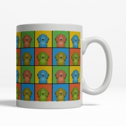 Irish Setter Dog Cartoon Pop-Art Mug - Right View