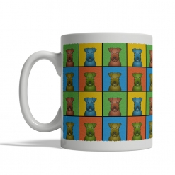 Irish Terrier Dog Cartoon Pop-Art Mug - Left View