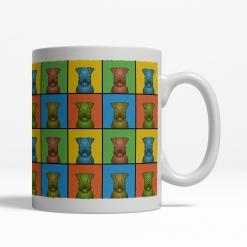 Irish Terrier Dog Cartoon Pop-Art Mug - Right View