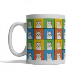 Jackapoo Dog Cartoon Pop-Art Mug - Left View