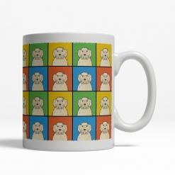 Labradoodle Dog Cartoon Pop-Art Mug - Right View