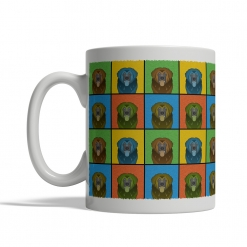 Leonberger Dog Cartoon Pop-Art Mug - Left View