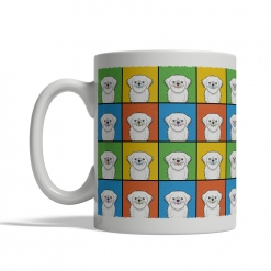 Lhaso Apso Dog Cartoon Pop-Art Mug - Left View
