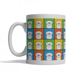 Lhaso Apso Dog Cartoon Pop-Art Mug - Left View