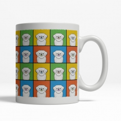 Lhaso Apso Dog Cartoon Pop-Art Mug - Right View