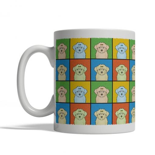 Maltipoo Dog Cartoon Pop-Art Mug - Left View
