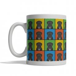 Mastador Dog Cartoon Pop-Art Mug - Left View