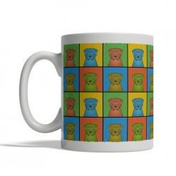 Norfolk Terrier Dog Cartoon Pop-Art Mug - Left View