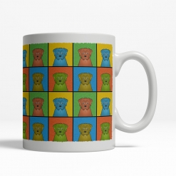 Norfolk Terrier Dog Cartoon Pop-Art Mug - Right View