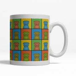 Norfolk Terrier Dog Cartoon Pop-Art Mug - Right View