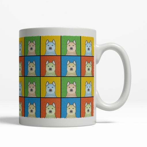 Norwegian Buhund Dog Cartoon Pop-Art Mug - Right View