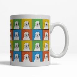 Old English Sheepdog Dog Cartoon Pop-Art Mug - Right View