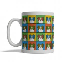 Papillon Dog Cartoon Pop-Art Mug - Left View