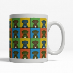 Plott Hound Dog Cartoon Pop-Art Mug - Right View