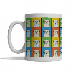 Pyrenean Shepherd Dog Cartoon Pop-Art Mug - Left View