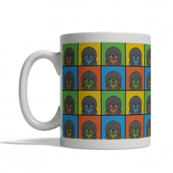 Tibetan Mastiff Dog Cartoon Pop-Art Mug - Left View