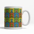 Welsh Terrier Dog Cartoon Pop-Art Mug - Right View