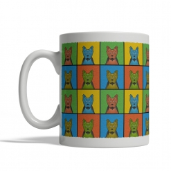 Yorkshire Terrier Dog Cartoon Pop-Art Mug - Left View