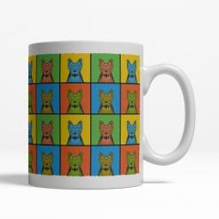 Yorkshire Terrier Dog Cartoon Pop-Art Mug - Right View