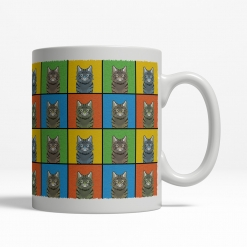 American Bobtail Cat Cartoon Pop-Art Mug - Right