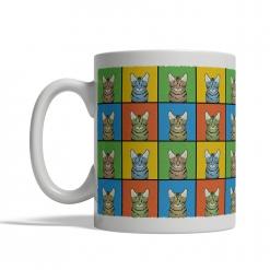 California Spangled Cat Cartoon Pop-Art Mug - Left