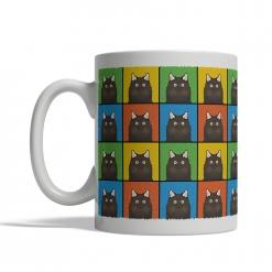 Chantilly-Tiffany Cat Cartoon Pop-Art Mug - Left