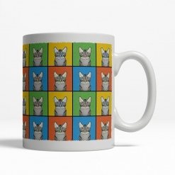 Egyptian Mau Cat Cartoon Pop-Art Mug - Right