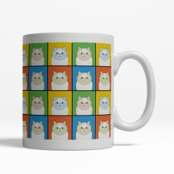 Himalayan Cat Cartoon Pop-Art Mug - Right