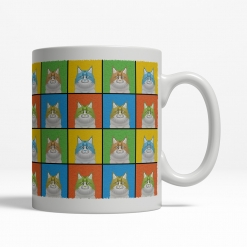 Maine Coon Cat Cartoon Pop-Art Mug - Right