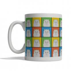 Persian Cat Cartoon Pop-Art Mug - Left
