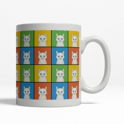 Turkish Angora Cat Cartoon Pop-Art Mug - Right