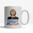 Hillary Clinton Cartoon Mug - Back