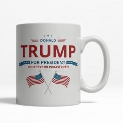 Trump for President Personalized Mug - Back
