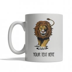 Stalking Lion Personalized Mug