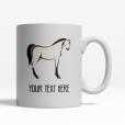 Horse Personalized Mug Back