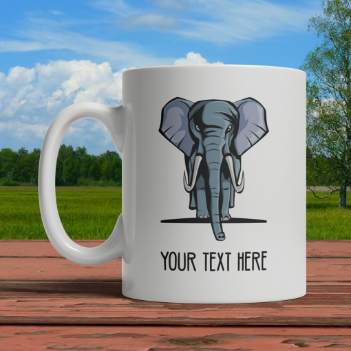 Elephant Personalized Mug Front