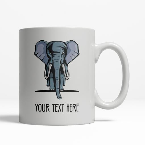 Elephant Personalized Mug Back